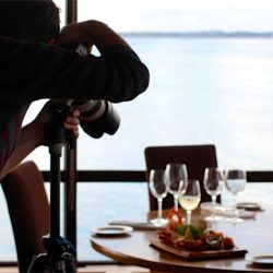 photographer with food