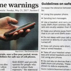 article in San Francisco Chronicle on California mobile phone warning